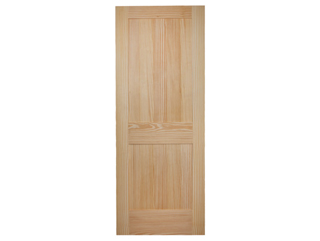 2 Panel Clear Pine Shaker