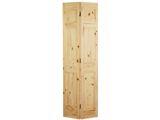 6 Panel Knotty Pine Bifold