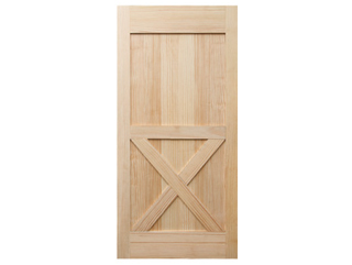 Half X-Brace Clear Barn Door