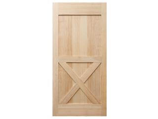 Half X-Brace Clear Barn Door