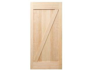 Z-Brace Clear Barn Door