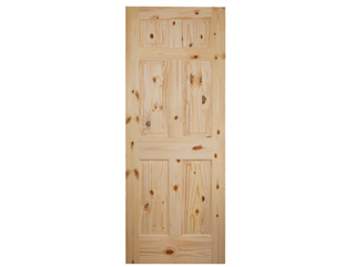 Colonial 6 Panel Raised Panel Knotty Pine