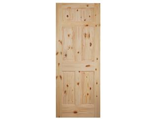 Colonial 6 Panel Raised Panel Knotty Pine