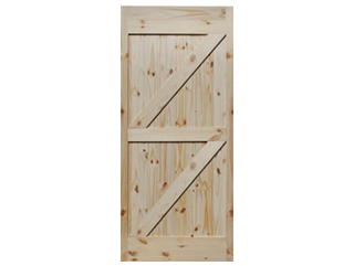Double Z-Brace Knotty Pine V-Groove Barn Door