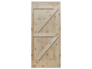 Double Z-Brace Knotty Pine V-Groove Barn Door