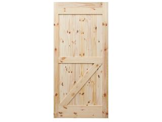 Half Z-Brace Knotty Pine V-Groove Barn Door