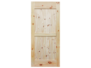 Mid-Bar Knotty Pine V-Groove Barn Door