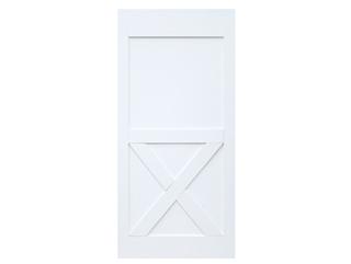 Half X-Brace Primed Barn Door