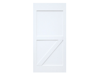 Half Z-Brace Primed Barn Door