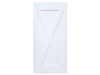 X-Brace Primed Barn Door