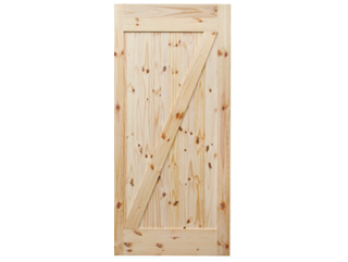 Z-Brace Knotty Pine V-Groove Barn Door